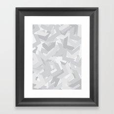 White Chevron Framed Art Print