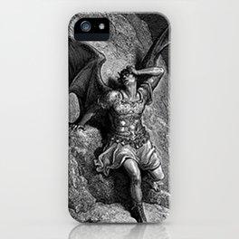 Gustave Dore - Paradise Lost Satan Profile iPhone Case