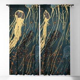 Metallic Jellyfish Blackout Curtain