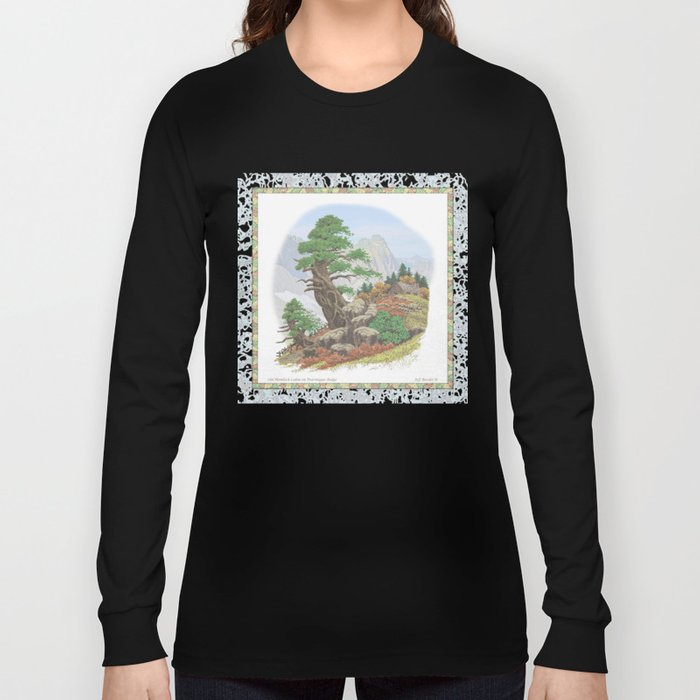OLD HEMLOCK CABIN ON PTARMIGAN RIDGE Long Sleeve T-shirt