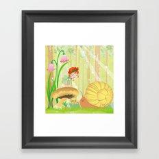 Forest fairy Framed Art Print
