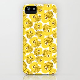Fancy Yellow Anemone Floral Design by Mak Mak iPhone Case