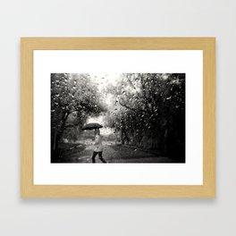 Past the Raindrops Framed Art Print