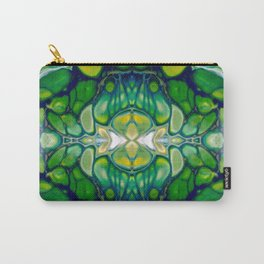 Bright Green Abstract Design Art Carry-All Pouch