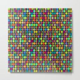 Colorful Hypnotic Squares Metal Print