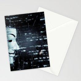 hacker background Stationery Cards