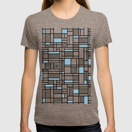 Map Lines Sky Blue T-shirt