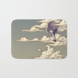 Go Ballooning! A Vintage Poster Recently! Bath Mat