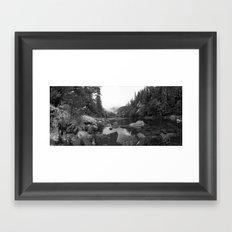 Panaramic Pond Framed Art Print