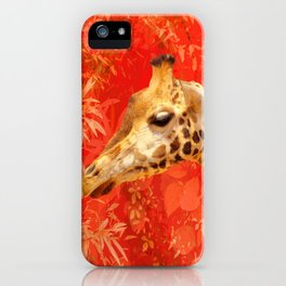Face to face - beautiful giraffes - love is in the air iPhone Case