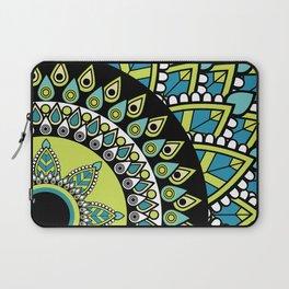 Mandala Green Blue Spiritual Zen Bohemian Hippie Yoga Mantra Meditation Laptop Sleeve