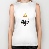legend of zelda Biker Tanks featuring Legend Of Zelda by Kesen