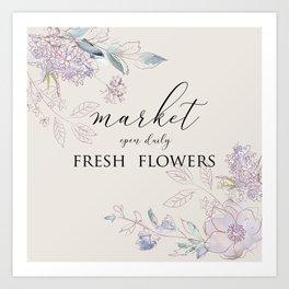 fresh flower market Art Print