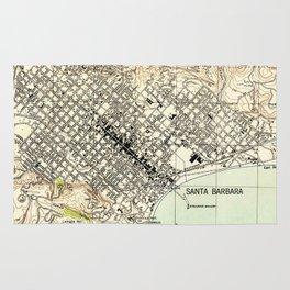 Vintage Map of Santa Barbara California (1944) Rug
