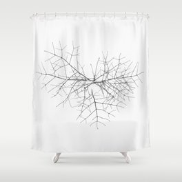 Heart in snow Shower Curtain