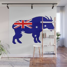 Australian Flag - Mountain Goat Wall Mural