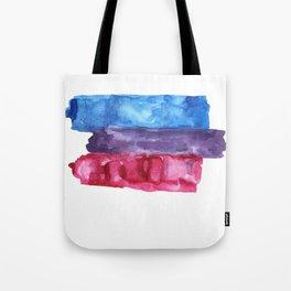 bisexual watercolor flag Tote Bag