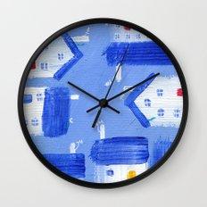 Wee Hooses Wall Clock
