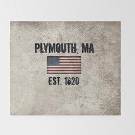 Plymouth, MA.  Established 1620 Throw Blanket