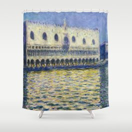 The Palazzo Ducale by Claude Monet Shower Curtain