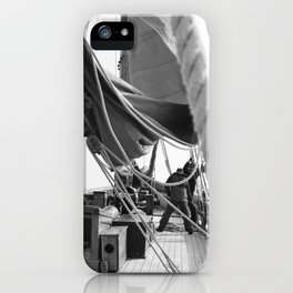 ...when boats were made of Wood and Men were made of Steel iPhone Case