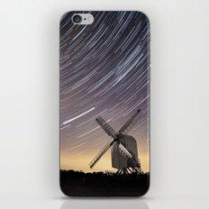 Windmill on a starry night iPhone & iPod Skin