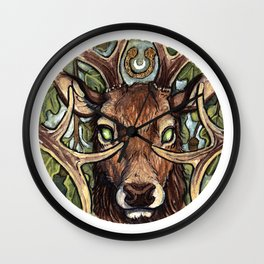Oak King Wall Clock