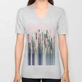 Cacti Stripe Pastel Unisex V-Neck