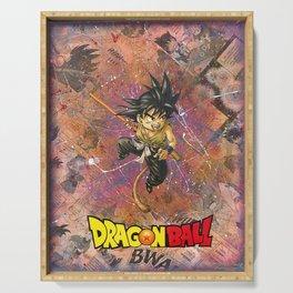 Dragon ball Kid Goku Manga Comic Anime Collage Superhero Comic Book Art Serving Tray