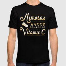 Mimosas = Vitamin C Mens Fitted Tee Black LARGE