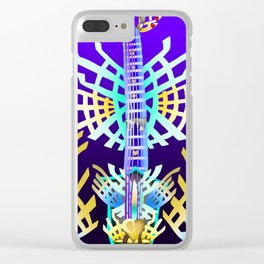 Fusion Keyblade Guitar #66 - X-Blade & Ultima Weapon Clear iPhone Case