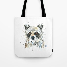 Peekaboo Raccoon Tote Bag