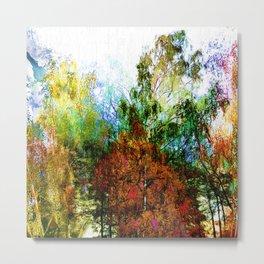 Colorful Birches Metal Print