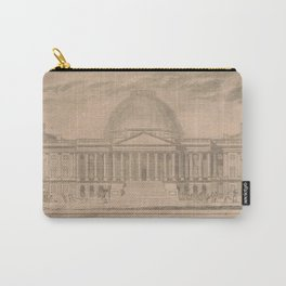 Vintage United States Capitol Building Illustration Carry-All Pouch