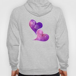 Purple and Pink hearts Hoody