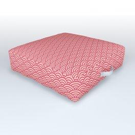 Japanese Sakura Koinobori Fish Scale Pattern Outdoor Floor Cushion