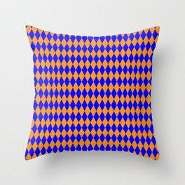 Orange Chocolate diamonds Throw Pillow
