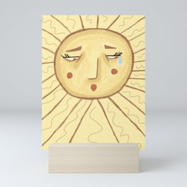 Sad Sun Mini Art Print