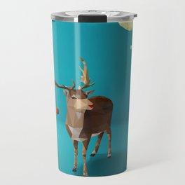 Low Poly Reindeer Travel Mug