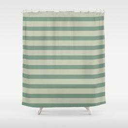 Nature Green Stripe Shower Curtain