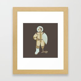 Bird Man Astronaut Framed Art Print