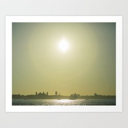 River Sunset Art Print