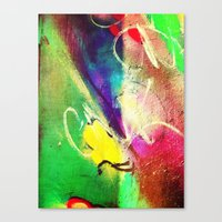 graffiti Canvas Prints featuring Graffiti  by Shannon Curtis