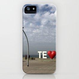 Tel Aviv Port Photography - TE(love)IV Sign iPhone Case