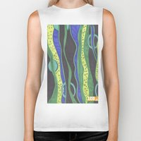 river Biker Tanks featuring River by LivingCanvasDesigns
