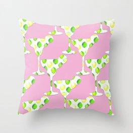 margarita pink Throw Pillow