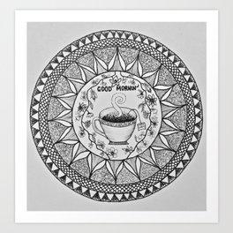 Wake up with a Cuppa Art Print