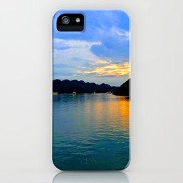 Beautiful sunset Halong Bay, Vietnam iPhone Case