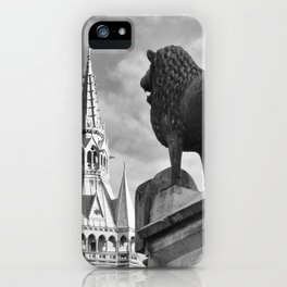 The Brunswick Lion and Town Hall iPhone Case