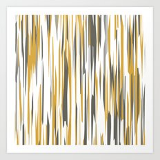Gold gray and white Art Print